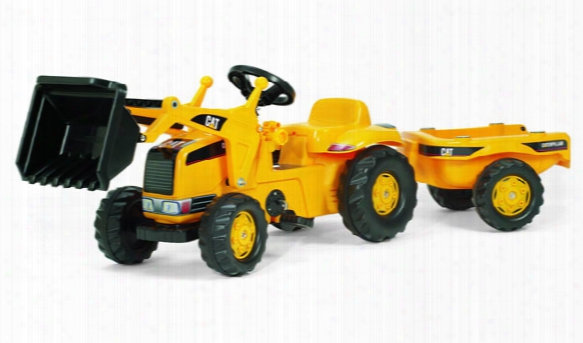 Caterpillar Kid Tractor With Loader And Trailer