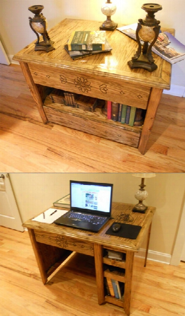 Deskcase - Desk When You Need It Bookcase When You Dont