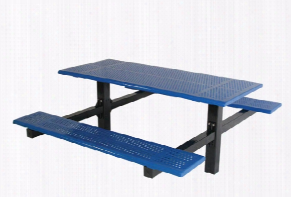 Double Cantilever Picnic Table 8 Foot - Perforated Steel