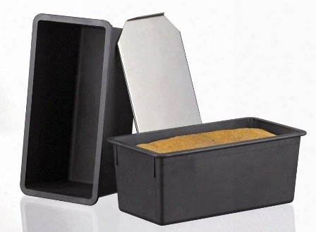 Exoglass Bread Pan With Stainless Cover - 7.5 Inch