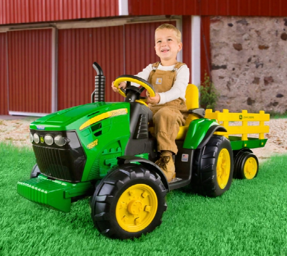 John Deere Ground Force Tractor With Trailer 12 Volt Vehicle