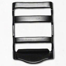 """Metal Strap Adjuster 1"""" Contoured Black Oxide"""