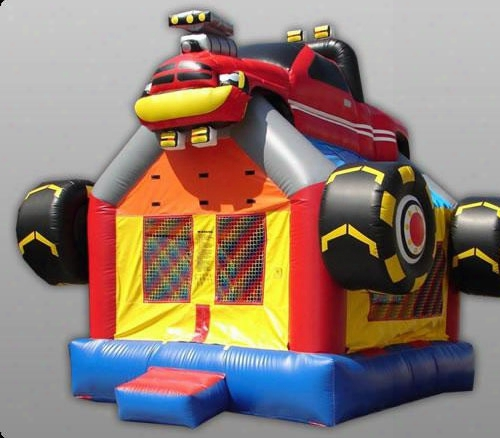 Monster Truck Kidwise Commercial Bounce House 13 Foot