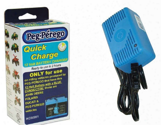 Replacement 12 Volt Quick Battery Charger For Peg Perego