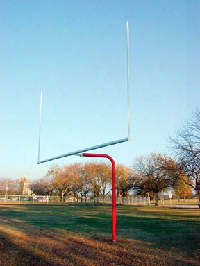 Single Pole Pitch Fork Football Goal-high School - Pair Of 2