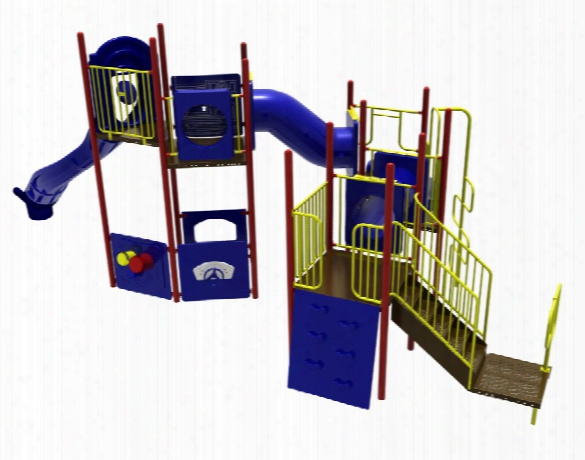 Sportsplay 5284 Playground System Climber With 8 Foot Slide