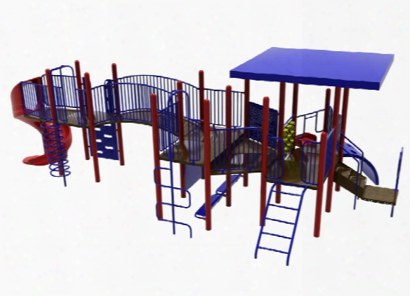 Sportsplay 5635 Playground With Mounted Shade Structure