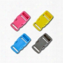 3/4 Inch Colored Single Adjust Side Release Buckles, Standard