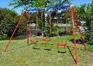 Multi Play Swing Set With 3 Board Swings