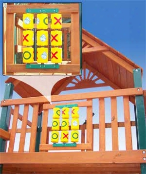 Tic-tac-toe Spinner Panel For Awkward Swing Set
