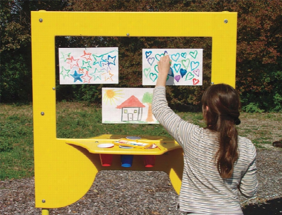 Tot Town Art Easel With Storage Commercial Play Event