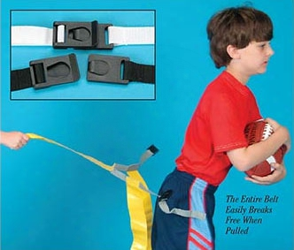 Triple Flagz Football Belts - Medium Yellow Set Of 6