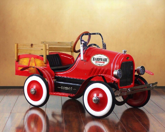 Vintage Red Delivery Truck Pedal Car