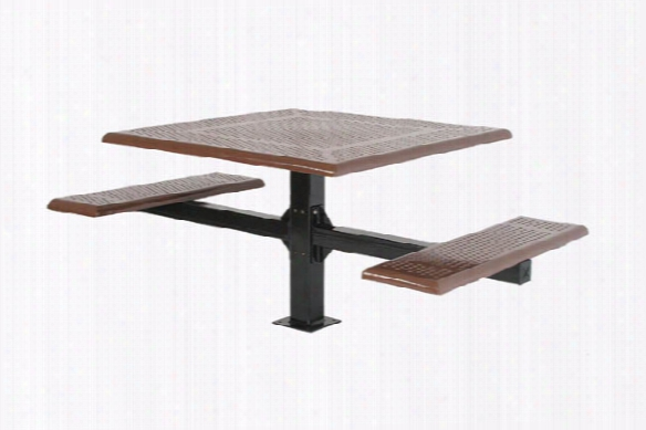 Wheelchair Cantilever Picnic Table - Rolled Edge Steel