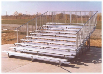 10 Row Aluminum Bleacher 21 Foot 140 Person Capacity