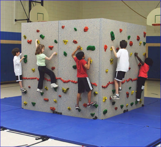360 Degree Freestanding Climbing Wall 8 X 32 With Mat
