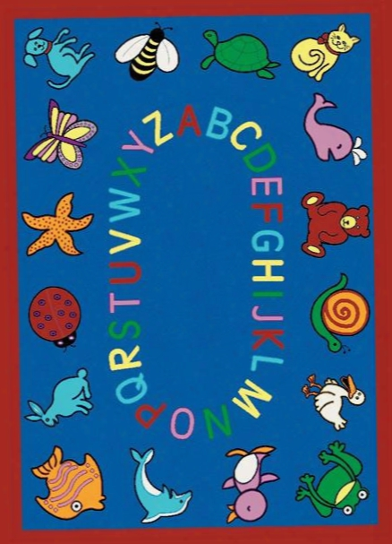 Abc Animals Rug - 5.33 Foot X 7.67 Foot Rectangle