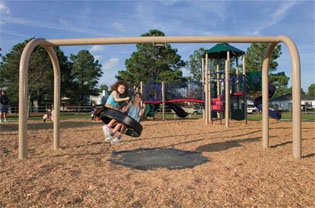 Arch Tire Swing With 5 Inch Frame
