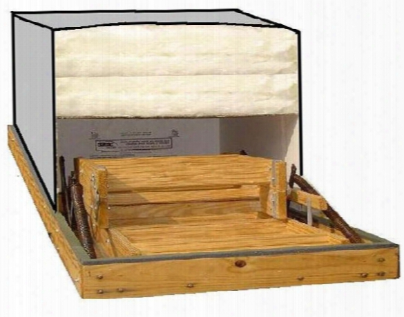 Attic Stair Cover - 22 Inch X 54 Inch With R-50 Insulation