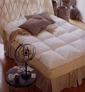 Baffle Box Feather Bed Mattress Pad - Cal King