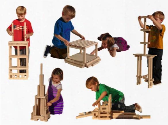 Beautiful Building Blocks Timberworks Set