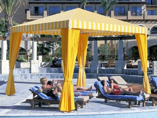 Canopy Shade Structure Cancun Cabana 12 Foot X 12 Foot
