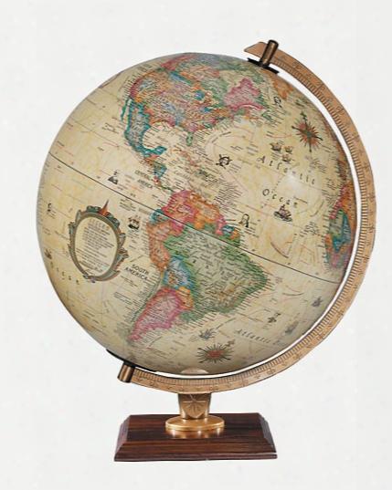 Carlyle Globe Antique Ocean Illuminated