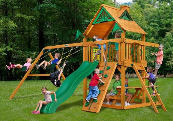 Chateau Ii Ap Wooden Swing Set