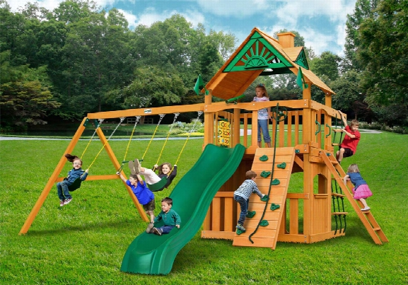 Chateau Ii Clubhouse Ap Wooden Swing Set
