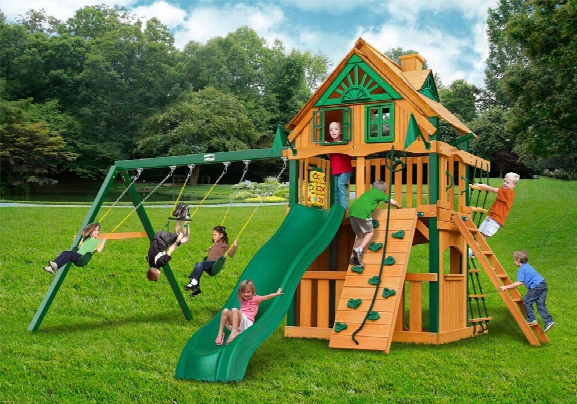 Chateau Ii Clubhouse Treehouse Ts Wooden Swing Set
