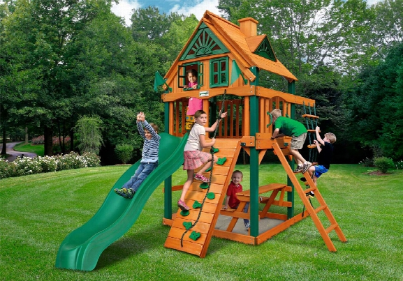 Chateau Ii Tower Treehouse Ts Wooden Swing Set