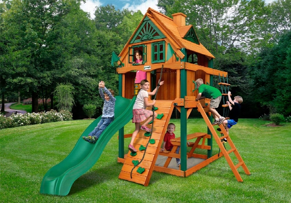 Chateau Ii Tower Treehouse With Fort Ts Wooden Swing Set