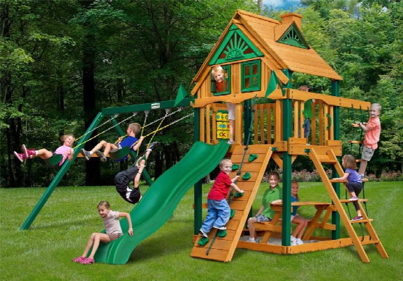 Chateau Ii Treehouse Ts Wooden Swing Set
