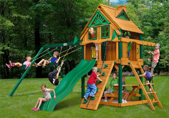 Chateau Ii Treehouse With Fort Add On Ts Wooden Swing Set