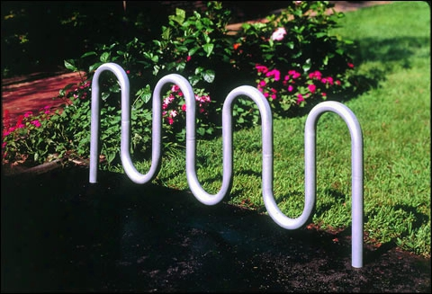 Contemporary Loop Bicycle Rack - Seven Loop
