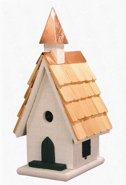 Country Wildwood Church Bird House