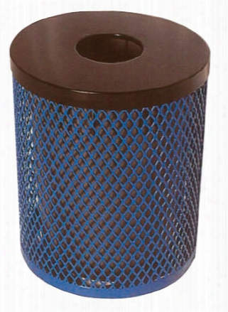Diamond Receptacle With Flat Top Lid And Liner 32 Gallon