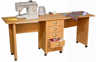 Double Mobile Desk And Craft Table
