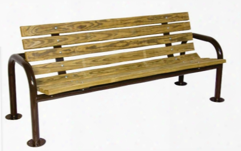 Double Post Contour Park Bench 6 Foot Recycled Plastic