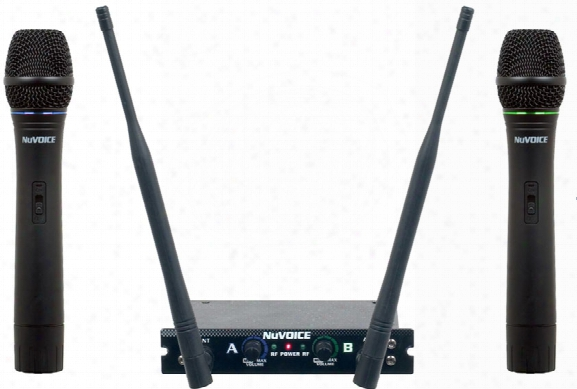 Dual Channel Vhf Wireless Microphone System