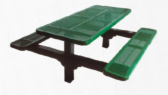 Dual Pedestal Diamond Picnic Table 8 Foot