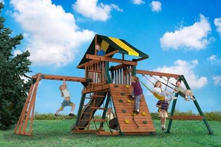 Eagles Hideout Ii Wooden Swing Set