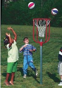 Easy Shot Metal Basketball Goal - Permanent 4 Foot High