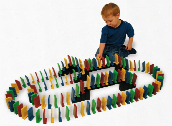 Easy Stand Domino Set Of 103 Pieces