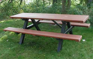 Eco Picnic Table And Bench 6 Foot