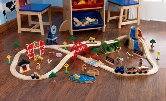 Farm Train Set - 75 Pieces