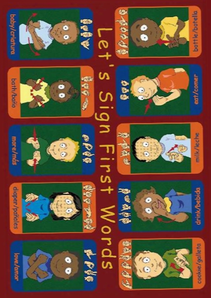 First Signs Rug - 5.33 Foot X 7.67 Foot Rectangle