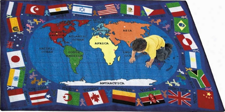 Flags Of The World Rug - 7.67 Foot X 10.75 Foot Rectangle