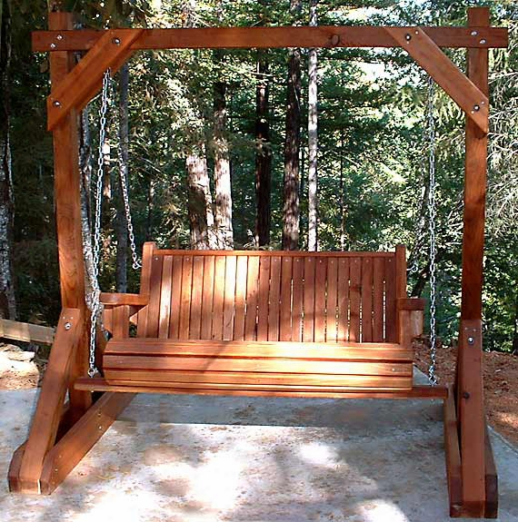 Forever 4 Foot Young Growth Redwood Porch Swing