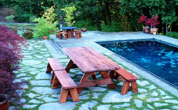 Forever 8-foot Old Redwood Picnic Table With 4 Benches